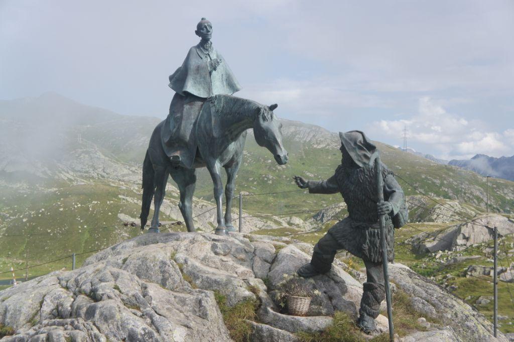 Suworow-Denkmal auf dem Gotthardpass