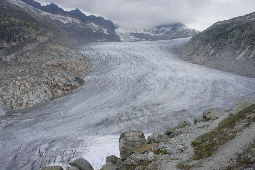 Rhonegletscher ca. 10 km