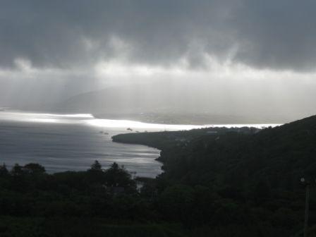 Wolken-Sonnenspiele auf Valencia-island