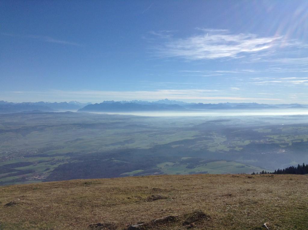Sicht vom Suchet (1588 m ü. M.)