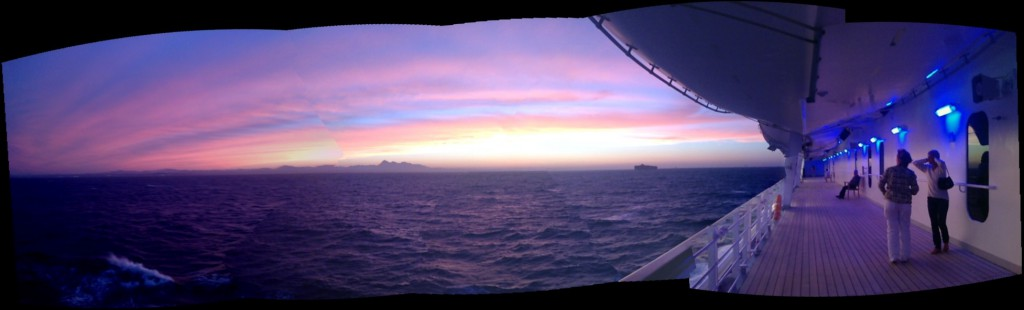 Sunset on board