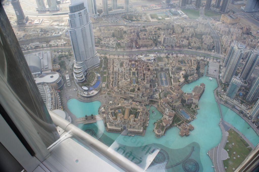 Dubai, from Burj Khalifa, dwarfing skyscrapers