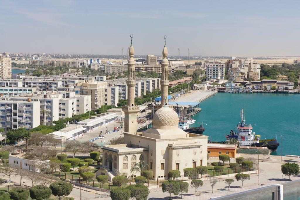 Suez mit Moschee