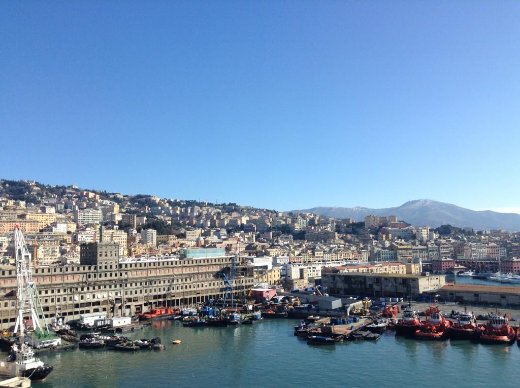 Genua, Sicht vom Schiff