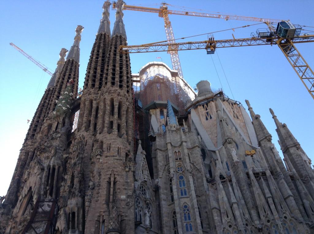Barcelona, La Sagrada Familia, im Bau
