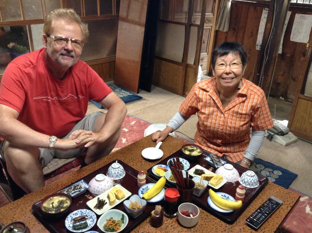 Tsumago, Frühstück im Minshuku