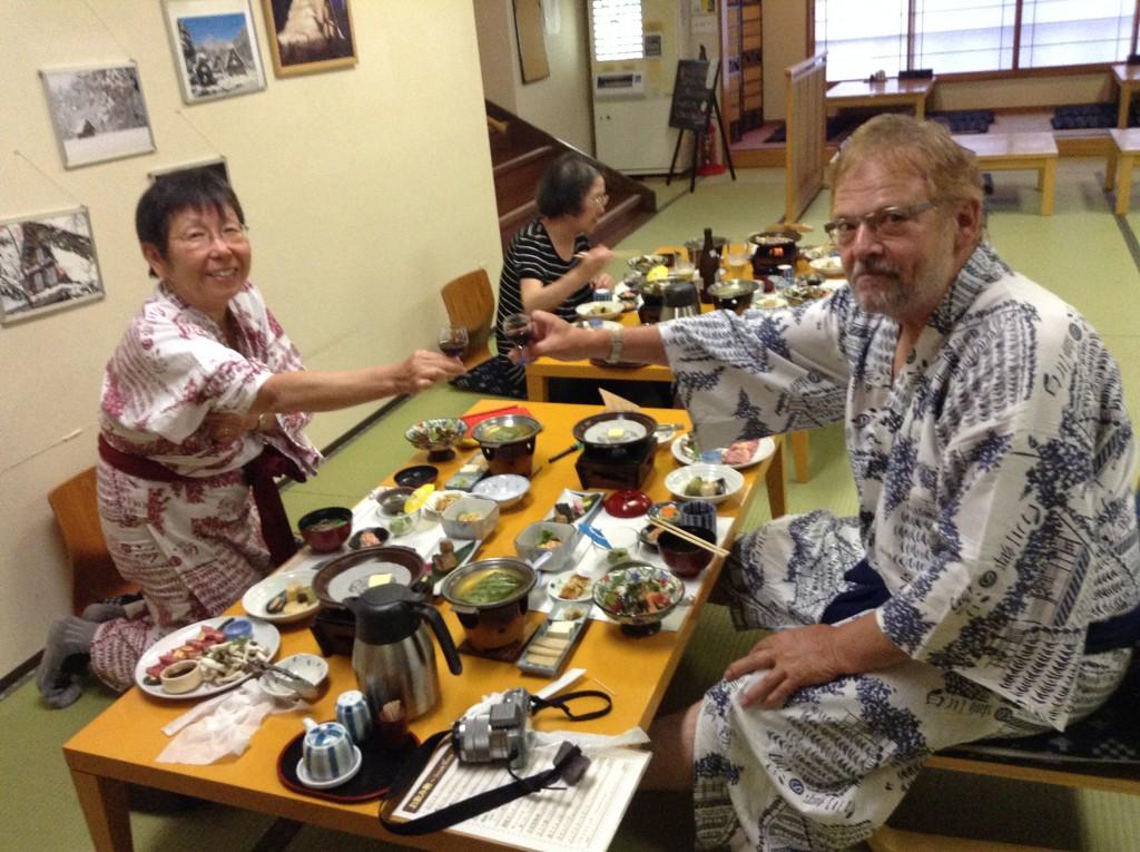 Shirakawa-Go, Nachtessen im Ryokan